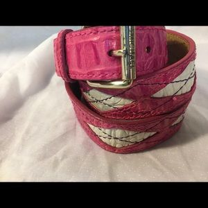 Michael Kors Pink Leather Belt